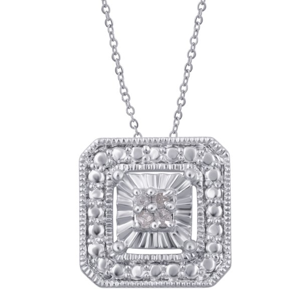 Diamond Accent Sqaure frame Pendant