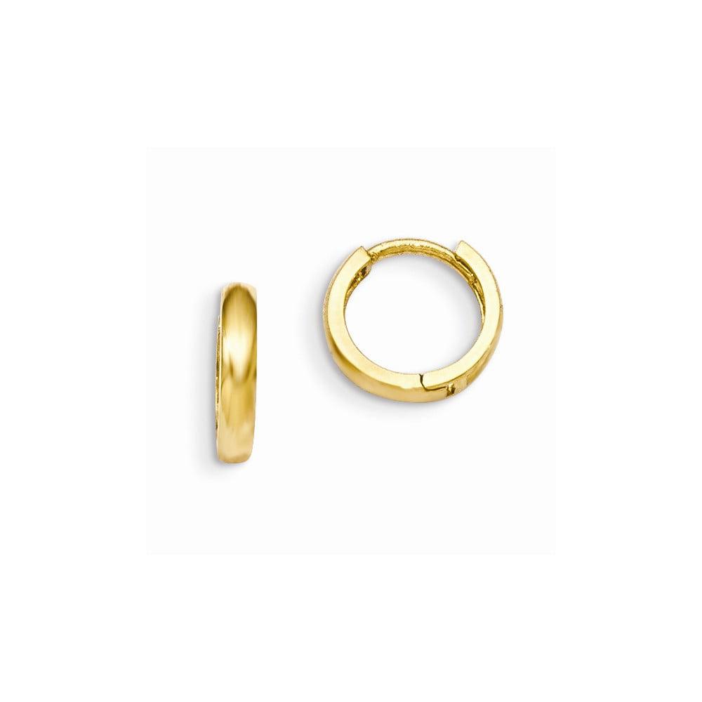 14k yellow gold madi k children s hinged hoop earrings 0