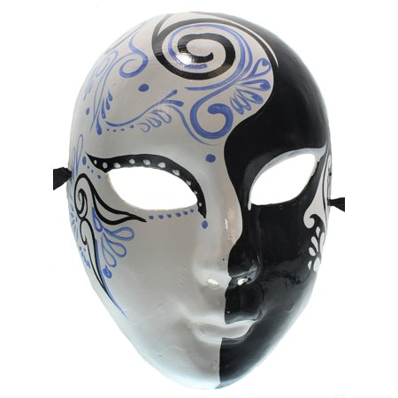 BLUE WHITE VENETIAN MASK - Costume - MASQUERADE PARTY - Masquerade Party City