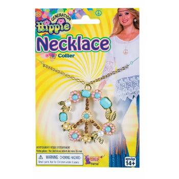 HIPPIE PEACE SIGN NECKLACE - Peace Necklace