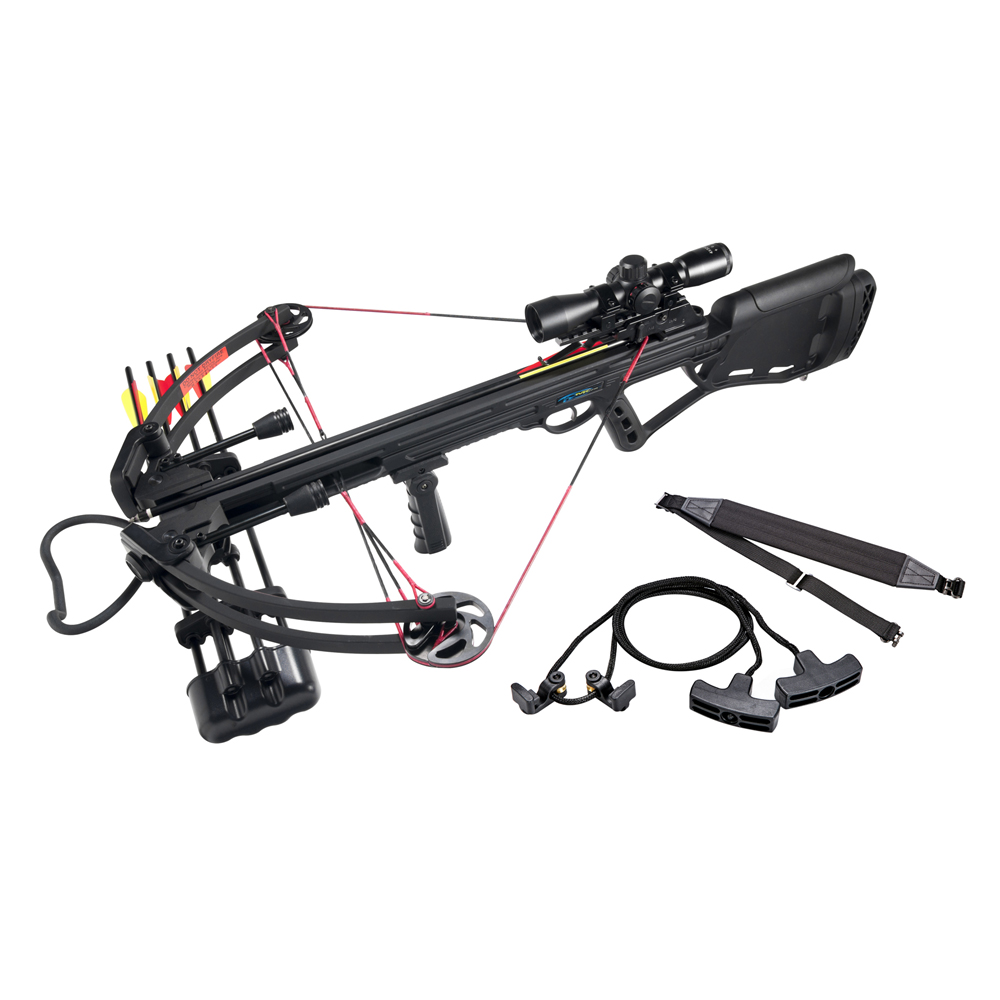 Leader Accessories Crossbow Package 150lbs 325fps Archery Equipment Hunting Bow with Quiver and 4pcs of Aluminum Arrow by Leader Accessories