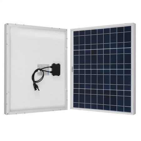 Renogy 50W 12V Solar Panel Polycrystalline Off Grid Battery Charging for RV/Boat/Cabin Applications