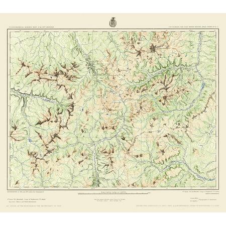 Topographical Map Colorado Southwest Colorado Us Army 1877 23 X 26 05