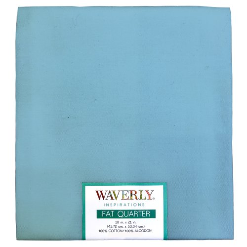 "Waverly Inspiration Fat Quarter PDR BLUE 100% Cotton, Solid Fabric, Quilting Fabric, Craft fabric, 18"" by 21"", 140 GSM"