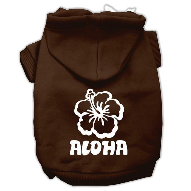 Aloha Flower Screen Print Pet Hoodies Brown Size Xxl (18) - image 1 of 1