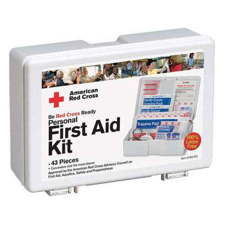 American Red Cross 9160 Rc Gr First Aid Kit Bulk White 44 Pcs 10 Ppl