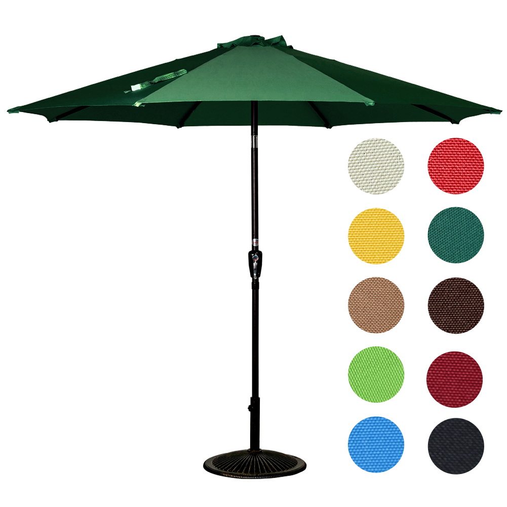 Sundale Outdoor 9 Feet Outdoor Aluminum Patio Umbrella with Auto Tilt and Crank, 8 Alu.... by Sundale Outdoor