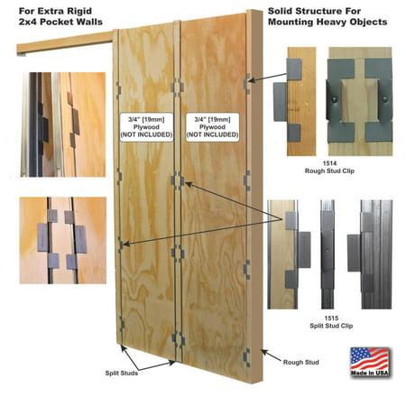 Johnson Hardware Pocket Door Frame Clip