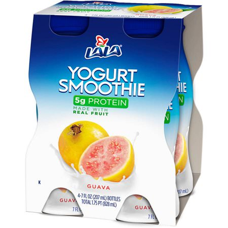 LALA Drinkable Yogurt, Guava, 7 Oz., 4 Count
