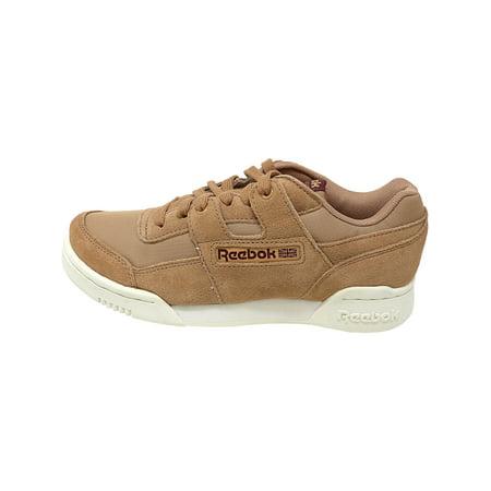 Reebok Men's Workout Plus Mu Dark Cypress / Sahara Chalk Ankle-High Leather Fashion Sneaker - 4M - image 2 of 4