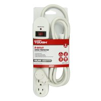 Hyper Tough 6 Outlet 6ft Surge 900-Joule Protection with Glossy White