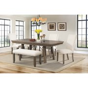 Picket House Furnishings Dex 6 Piece Dining Set Table 4 Upholstered Side Chairs