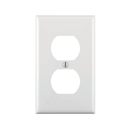 - Leviton 122-80703-00W White Single Duplex Single Gang Commerical Grade Wallplate