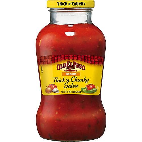 Old El Paso Medium Thick N' Chunky Salsa, 24 oz