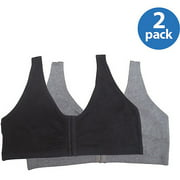 Fruit of the Loom Comfort Front Close Sports Bra, 2 Pack, Style 96014PK