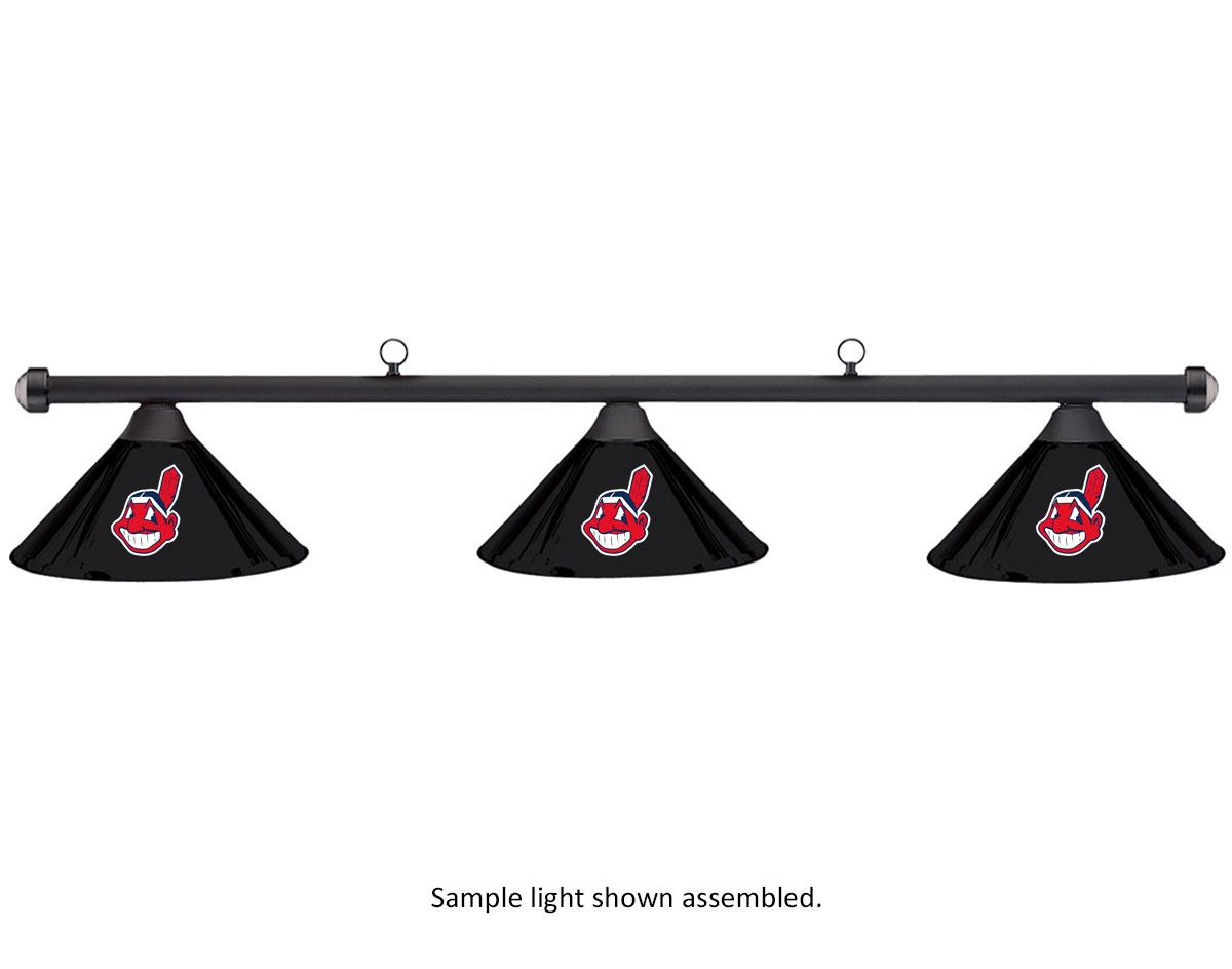 MLB Cleveland Indians Black Metal Shade & Black Bar Billiard Pool Table Light by Imperial International