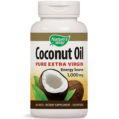 Nature's Way Coconut Oil Softgels, 1000 Mg, 120 (Best Coconut Oil Capsules)