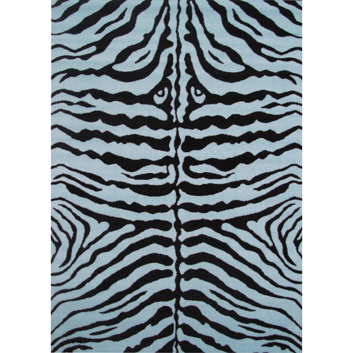 Fun Rugs Fun Time Blue Zebra Skin Area Rug