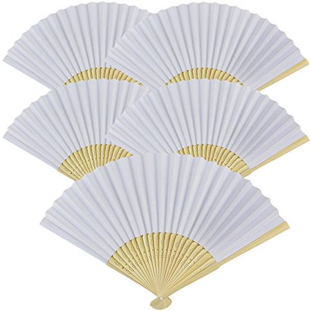 Paper Hand Fan (Just Artifacts Folding Paper Hand Fan 8.25