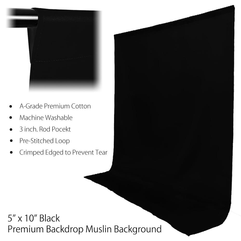 2400w 3x softbox photo and video lighting kit with 5 u0027x 10u0027 black white green muslin on backdrop support system by loadstone studio wmls0394 walmartcom