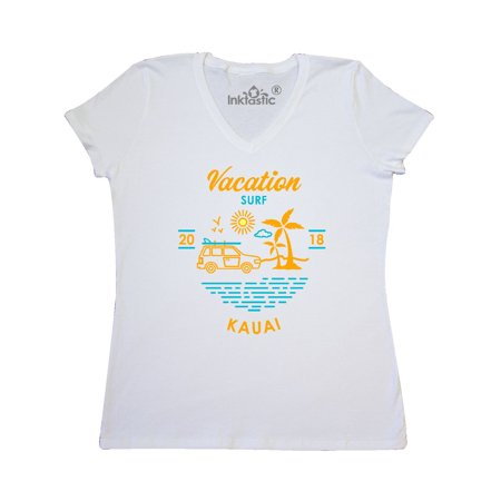 2018 Vacation Surf Kauai Women's V-Neck T-Shirt