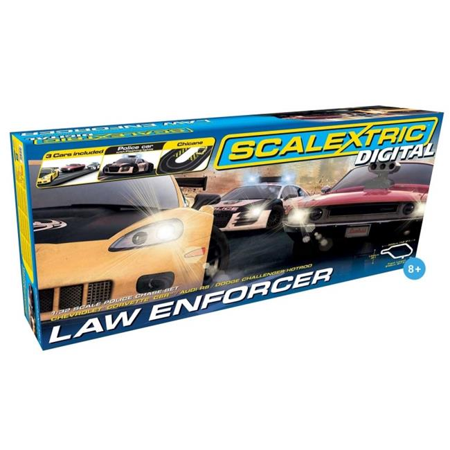 Scalextric C1310T Digital Law Enforcer 1-32 Digital Slot Car Race Set, Age 8 Plus