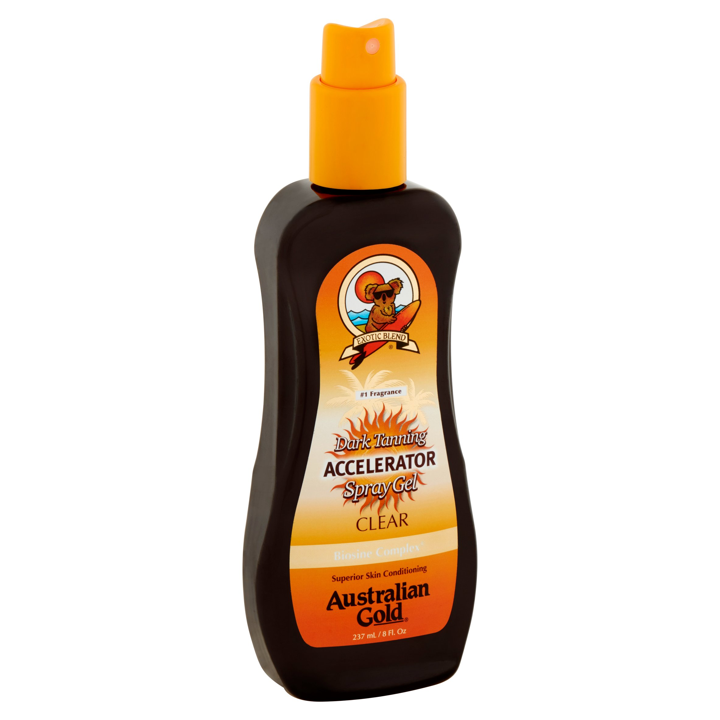Dark Tanning Accelerator Spray Australian Gold, 8 fl oz Tanning Oil