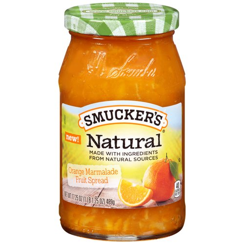 Smucker's Natural Orange Marmalade Fruit Spread, 17.25 oz