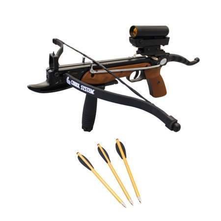 SAS Prophecy 80lbs Pistol Crossbow with Red Dot Scope + Pack of Bolts +