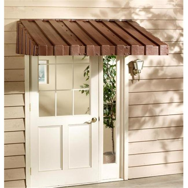 White East Iowa Plastics A36WH Window Awning 36 in