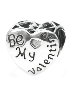0a9c301c1 Product Image Queenberry Sterling Silver Be My Valentine Heart European  Style Bead Charm Fits Pandora