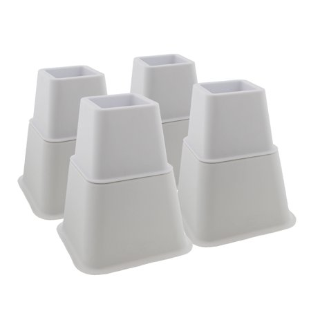 7penn Bed Riser Set Of 3 And 5 Inch White Adjustable