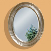 Silver Leaf Oval Oversized Wall Mirror - 33W x 41H in.