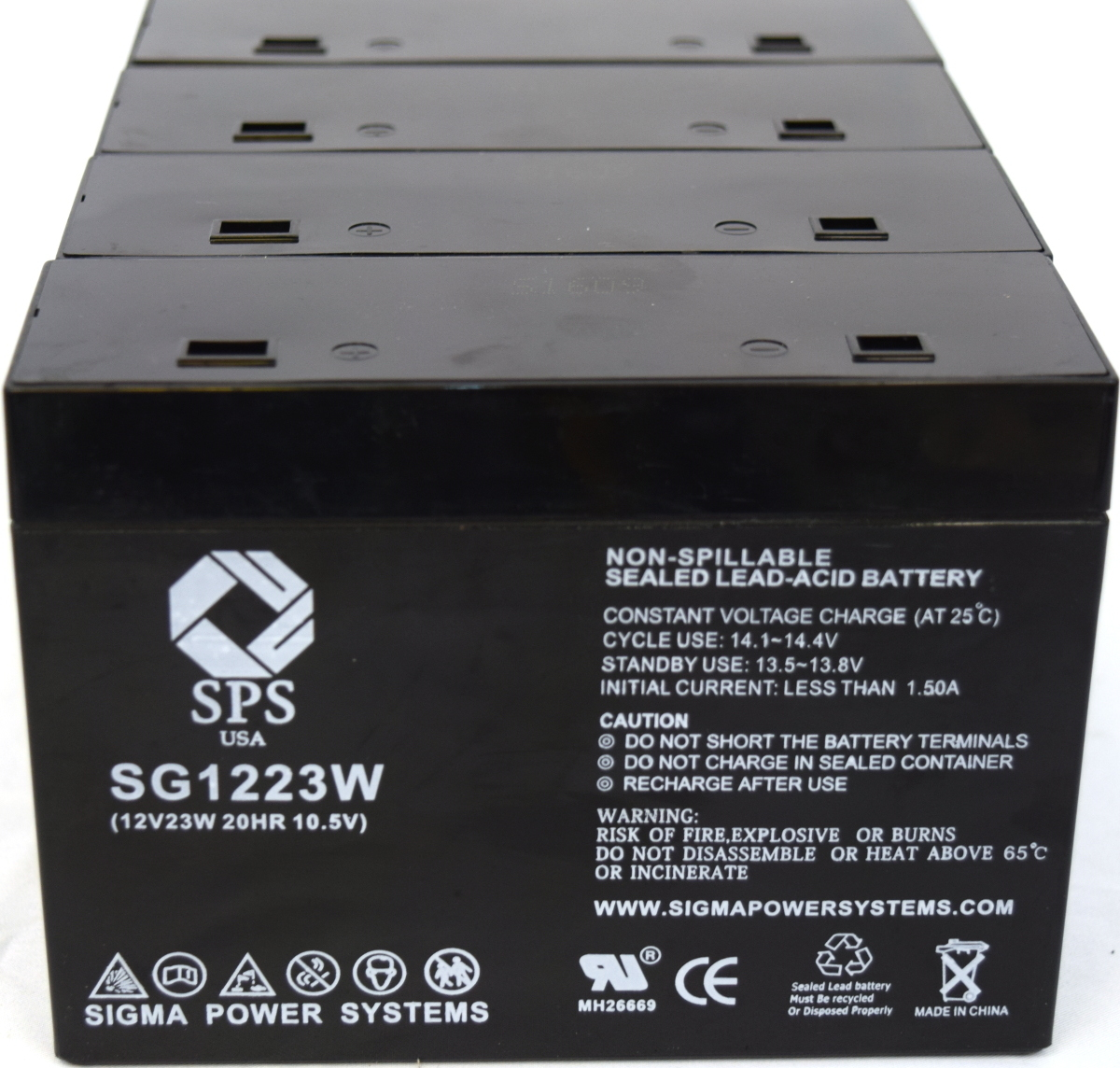 SPS Brand 12 V 5 Ah (Terminal T1T2) 1223W Replacement battery for CyberPower Systems Power99 CPS500VA (4 PACK)