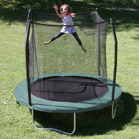 Skywalker Trampolines 8-Foot Trampoline, with Safety Enclosure, Green