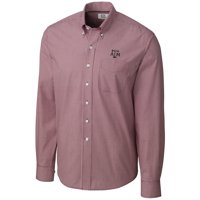 Texas A&M Aggies Cutter & Buck Epic Easy Care Gingham Big & Tall Long Sleeve Button-Down Shirt - Maroon