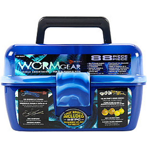 South Bend Wormgear Tackle Box-88 Piece (Blue) Multi-Colored