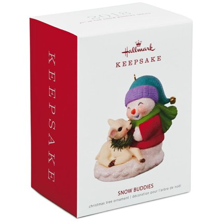 Hallmark Keepsake 2018 Snow Buddies Snowman and Lamb Ornament (Buddies Snowman)