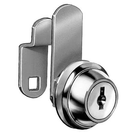 COMPX NATIONAL C8051-KD-14A Disc Cam Lock,Nickel,Key Different