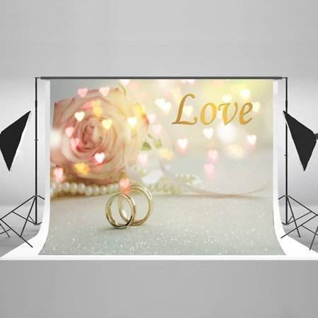 HelloDecor Polyster 7x5ft Studio Backdrop for Wedding Anniversary Wedding Party Decoration Custom Photography Background - 25 Anniversary Party Ideas