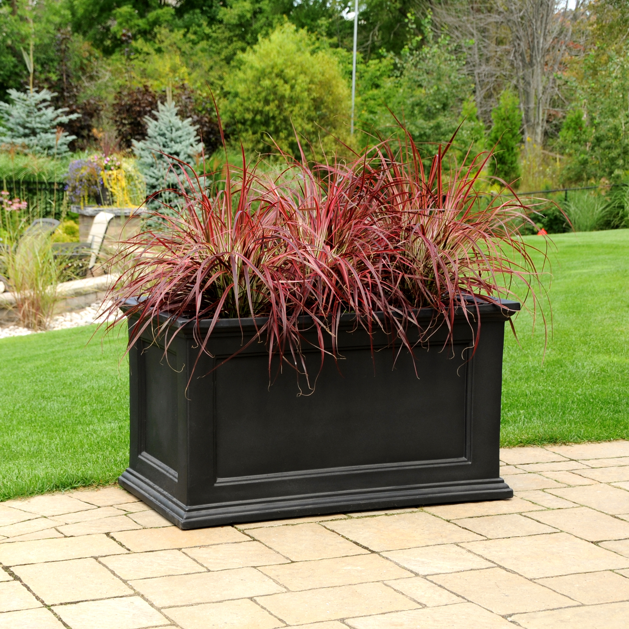 Fairfield Patio Planter 20x36 Black by Mayne Inc.