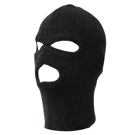 Face Ski Mask 3 Hole (9 Colors Available), Black S/M (Funny Ski Face Mask)