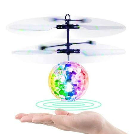 Concorde Aircraft - Hand Flying UFO Ball LED Mini Induction Suspension RC Aircraft Flying Toy Ball