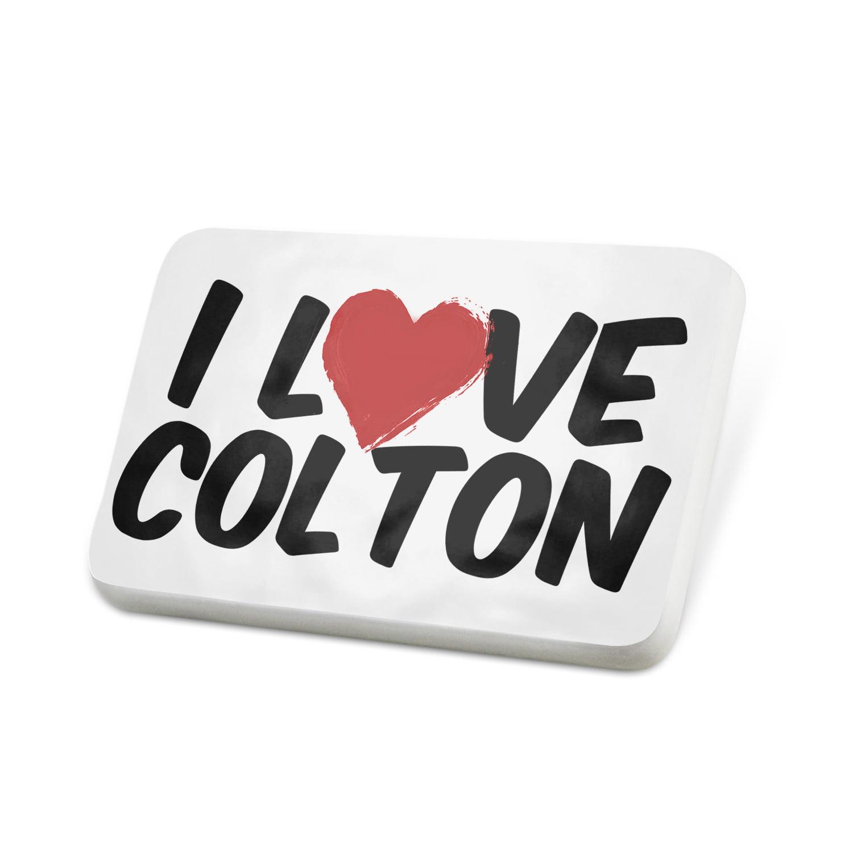 Porcelein Pin I Love Colton Lapel Badge – NEONBLOND