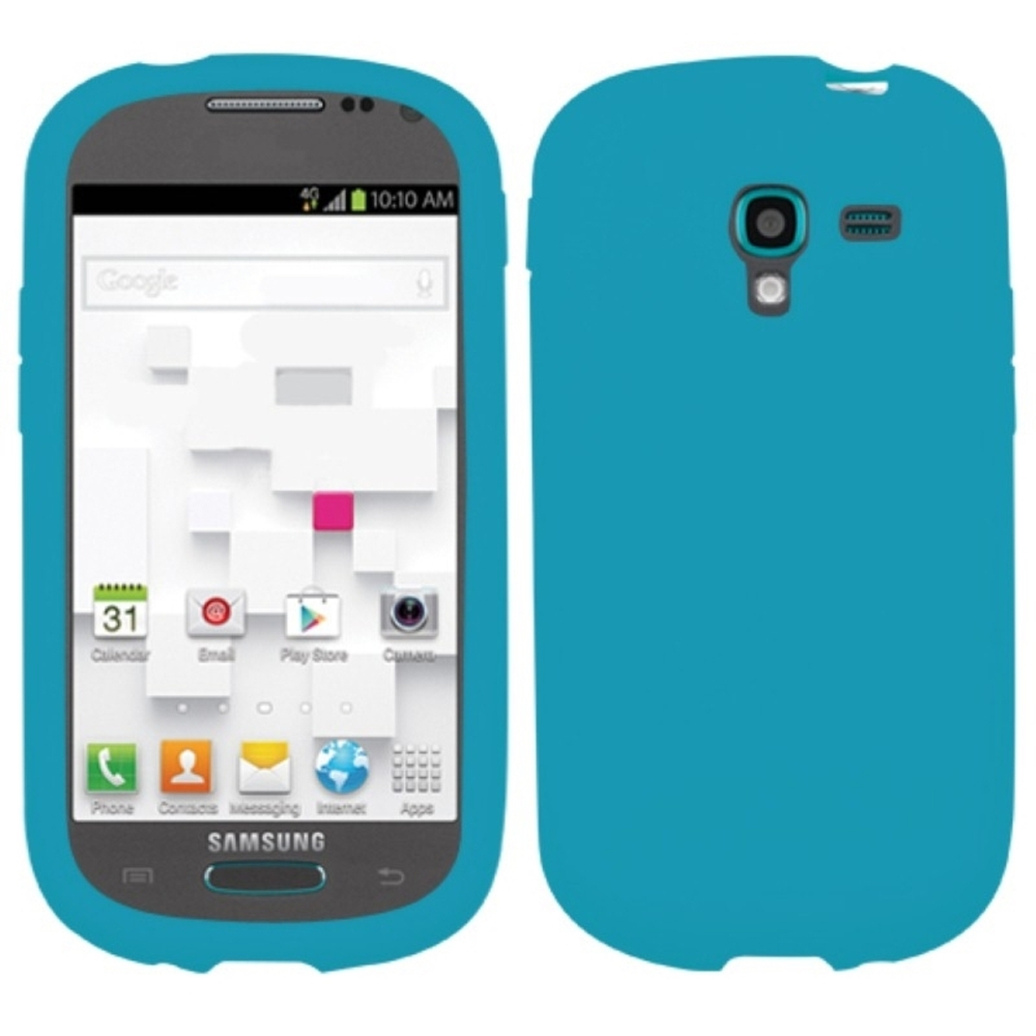 Insten Solid Case Tropical Teal For SAMSUNG T599 Galaxy Exhibit