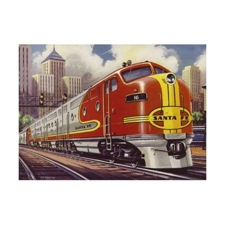 Super Chief Train of the Atchison, Topeka and Santa Fe Railway Print Wall Art