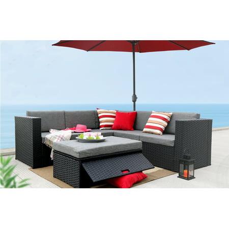 Magari Patio Garden Deep Seating Cushion Black