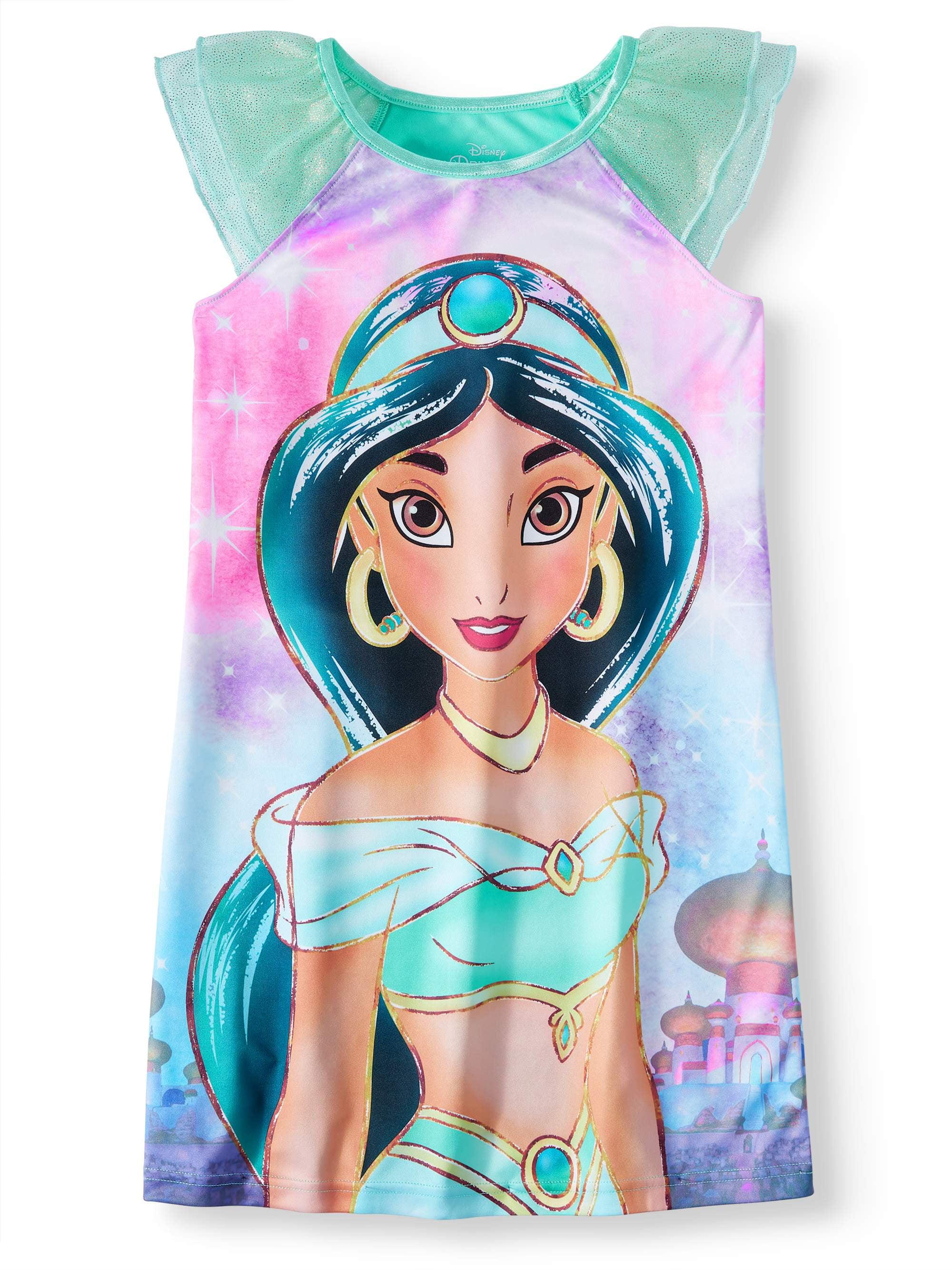2ff3ddda8 Disney Princess - Girls  Jasmine Pajama Nightgown - Walmart.com