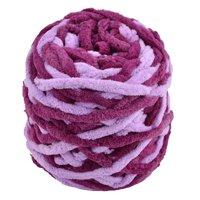 Home Polyester Handicraft DIY Hat Blanket Scarf Yarn Purple Light Purple 100g for Crochet and Knitting