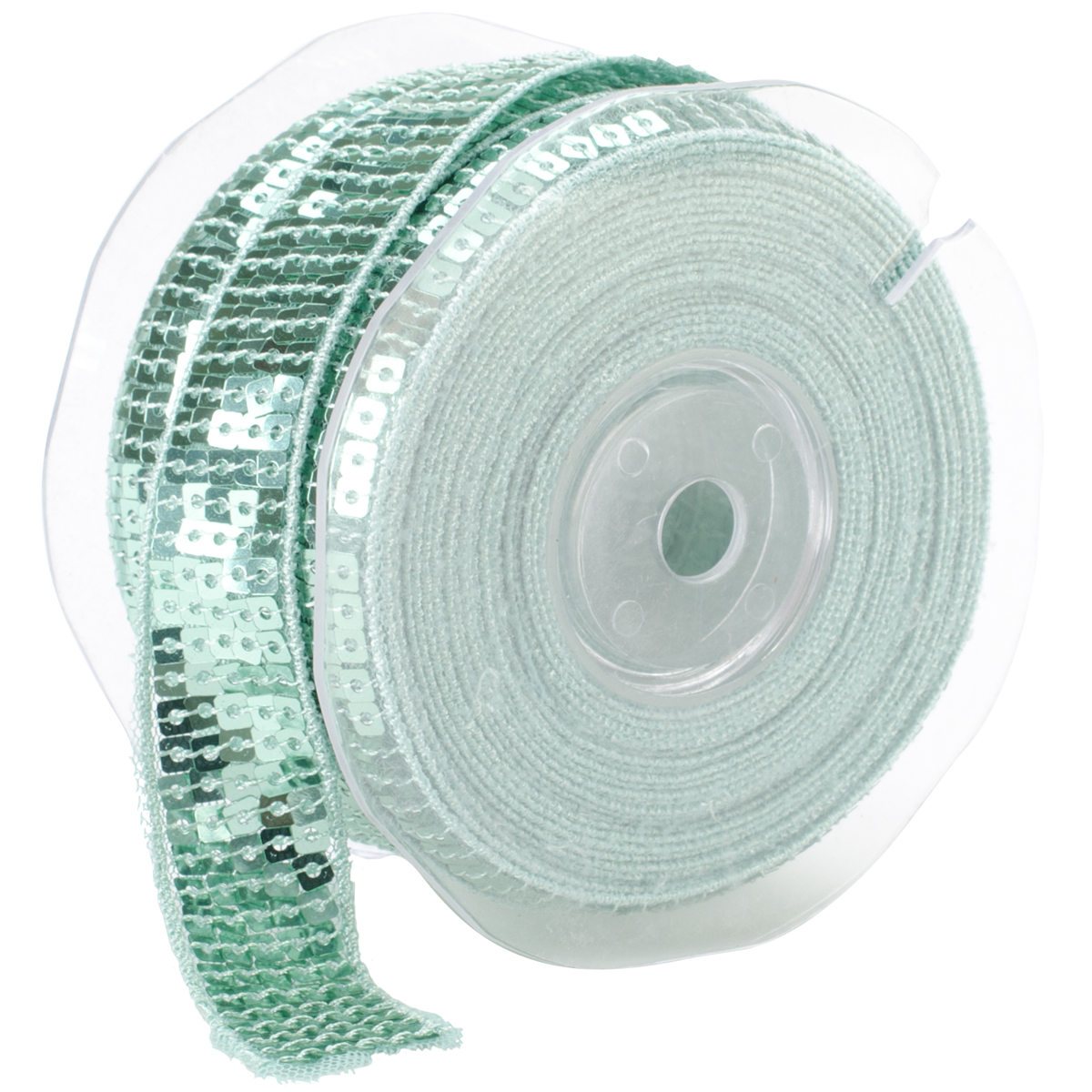 Square Sequin Trim 22mm X 15.95 Yards-Sea Green